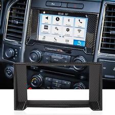 Carbon Fiber Central Control Navigation GPS Radio Panel Trim For Ford F150 2015+