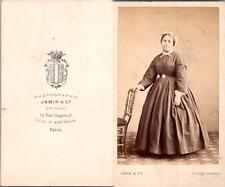 Jamin, Paris, Femme des iles ou métisse en bonnet de soubrette Vintage CDV album