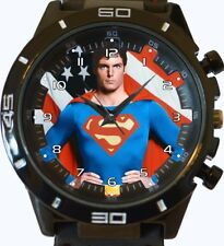 SUPERMAN CHRISTOPHER REEVE NEUF GT Série Sport Unisexe cadeau montre bracelet