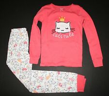 New Gymboree Gymmies 2 Pc PJs Pink Dancing Kitty Cats Rule Size 3 Year NWT