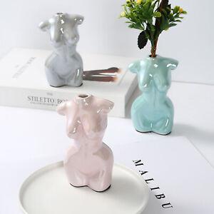 Nude Female Body Vase Plant Flower Ceramic Statue Ornament Art Home Decor Human