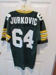 RARE Green Bay Packers JOHN JURKOVIC jersey men's size 40 Champion NFL USA VGC