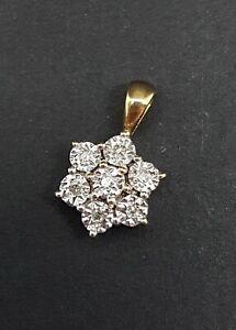 Diamond Cluster Pendant in 9ct Gold