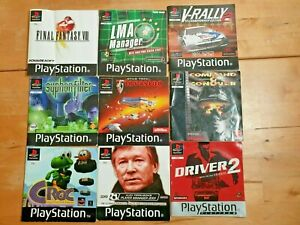 9 PlayStation 1 Instruction Manuals Booklets PS1