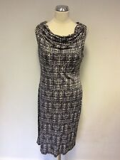GHOST DARK GREY & WHITE PRINT  PENCIL DRESS SIZE 16