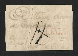 PERU- LIMA TO CHILE STAMPLESS COVER 1820