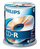 PHILIPS CD-R 80 MINUTI 700MB 52X VELOCITÀ VUOTI CD CONFEZIONE DI DISCHI A TORRE