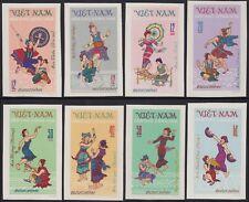 VIETNAM du NORD N°768/775** Non Dentelés Danses, 1972 Vietnam  dances Imperf MNH