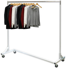 "Simple Houseware Industrial Grade Z-Base Garment Rack, 400lb Load with 62"" Extra"