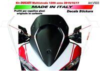 Adesivi per cupolino Ducati Multistrada 1200 2015/16/17 Bianco