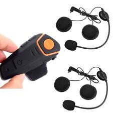 BT-S2 Bluetooth 1km Gegensprechanlage Motorrad Headset FM + 1x Kopfhörer-Linie