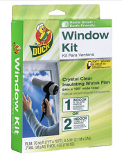 Duck 286218 Extra Large Patio Door Shrink Film Window insulation kit, 1, Crystal