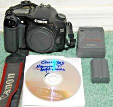 """USED Canon EOS 30D 8.2MP 2.5""""LCD DSLR - Black Body Only, VERY GOOD"""