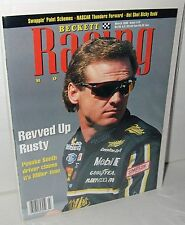 NASCAR Beckett March 1996 Issue #19 Rusty Wallace Miller Genuine Draft Racing