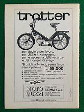 AM138 Pubblicità Advertising Clipping 19x13 cm (1967) TROTTER MOTO GUZZI
