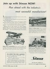 1948 Stinson Personal Airplanes Ad Become a Dealer Convair Private Aircraft