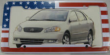 AMERICAN FLAG LICENSE PLATE FRAME USA AMERICA L345
