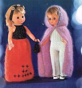 "Dolls knitting  pattern for  18"" doll.     Laminated copy. (V Doll 68)"