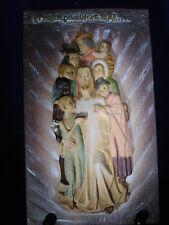 Jesus Let the Little Children.... 3d Relief Wall Plaque Vincenzo Demetz Figlio