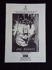 Jew Gangster Joe Kubert Super Rare Ashcan Komikwerks