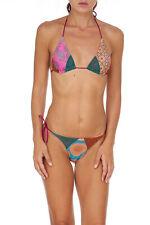 Bikini F**K EFFEK FK donna multicolor lurex triangolo costume bagno mare