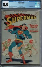 CGC 8.0 SUPERMAN #56 WHITE PAGES PRANKSTER APPEARANCE 1949
