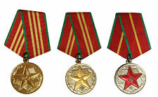 USSR Soviet Russian Army 10 15 20 Years Excellent Service Order 3x Medal Set