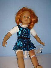 "Handmade Justaucorps & jupe ideal for AMERICAN GIRL 18"" Fashion Doll Bleu/Noir"