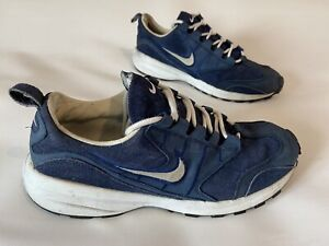 Mens Classic NIKE AIR Cushioned Suede Trainers Running Shoes Size UK12 in Blue