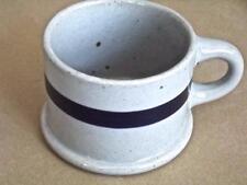 Vintage 80s Dansk Blt-Blue Mug Stoneware Speckled Gray Blue Band Coffee Soup