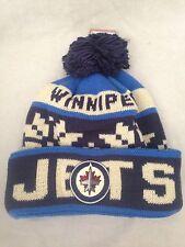 Winnipeg Jets NEW Cuffed Winter Knit Hat with Pom . NHL Hockey Warm Fan Adult