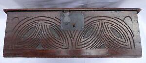 17th Century Boarded Oak Bible Box