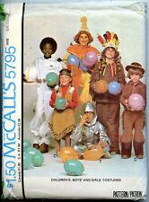 Indians, Astronaut, Clown  - Childs Costume Pattern 4-6