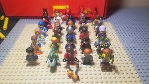 Lego Minifig Lot of 30 Figures - Series Knights Pirates City Super Heroes Etc!