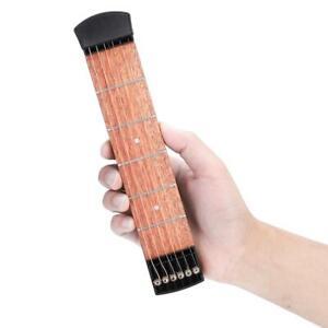 Tastiera per chitarra tascabile in mogano a 6 corde piccola per principianti