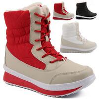 Damen Winterstiefel Stiefeletten Stiefel Warm Snow Boots Gefüttert Schneeschuhe