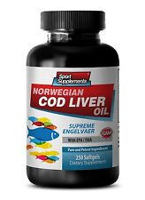 Fish Oil 1200 - Norwegian Cod Liver Oil 600mg - Extreme Weight Loss Pills 1B