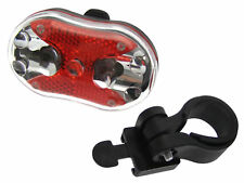 9 LED Luz para Bici Bicicleta Trasero Conjunto Super brillante intermitente Reflector 7 modos