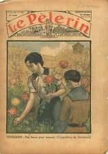All Saints' Day Chrysanthemum Toussaint Fleurs Chrysanthème 1936 ILLUSTRATION