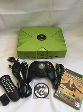 SUPER RARE!!! Microsoft Xbox System MOUNTAIN DEW Edition MODDED. ONLY 5000 MADE!