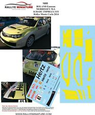 DECALS 1/43 REF 1695  SUBARU IMPREZA STI BOLAND Rallye Monte Carlo 2014 Rally