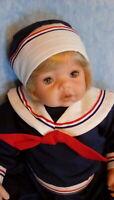 """Phyllis Perkins 19"""" vinyl doll sailor boy beautiful sailor suit excellent cond."""