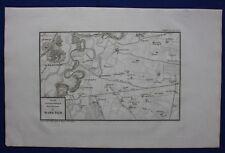 Original antique map, MARENGO, ITALY, ITALIA, Napoleonic Wars, Tardieu, c.1820