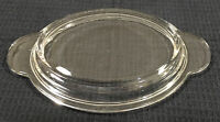 Vintage Pyres P14C Oval Grab It Casserole Lid Only Clear Glass Cover Made In USA