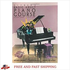 Alfred`s Piano Course Lesson Book for Beginners adults chord approach