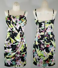 Lipsy London Dress Pleated Bandeau Size 6 US UK 10 Sweet Sensation Floral Print