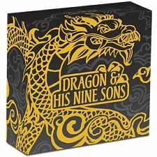 2016 $5 Dragon and His Nine Sons 5oz Silver Proof High Relief Coin