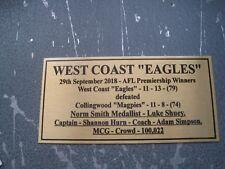 2018 WEST COAST Premiers Gold Plaque F/Post