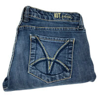 Kut From The Kloth Womens Catherine Boyfriend Blue Denim Jeans Sz 8 Actual 30X29