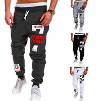 Mens Tracksuit Bottoms Long Trousers Gym Jogging Running Sports Sweatpants Pants